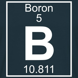 Periodic table element 5 - B (boron) - BIG Magliette - Maglietta da uomo