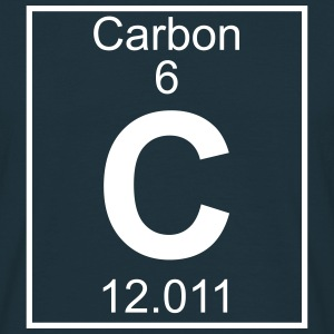 Periodic table element 6 - C (carbon) - BIG T-shirts - Herre-T-shirt