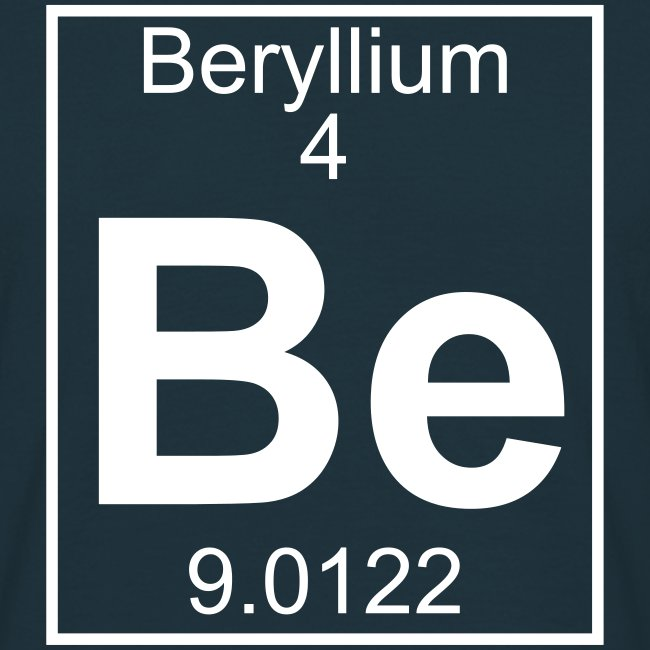Periodic table words beryllium be element 4 full 1 col shirt beryllium be element 4 full 1 col shirt urtaz Choice Image