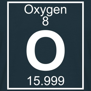 Periodic table element 8 - O (oxygen) - BIG T-skjorter - T-skjorte for menn