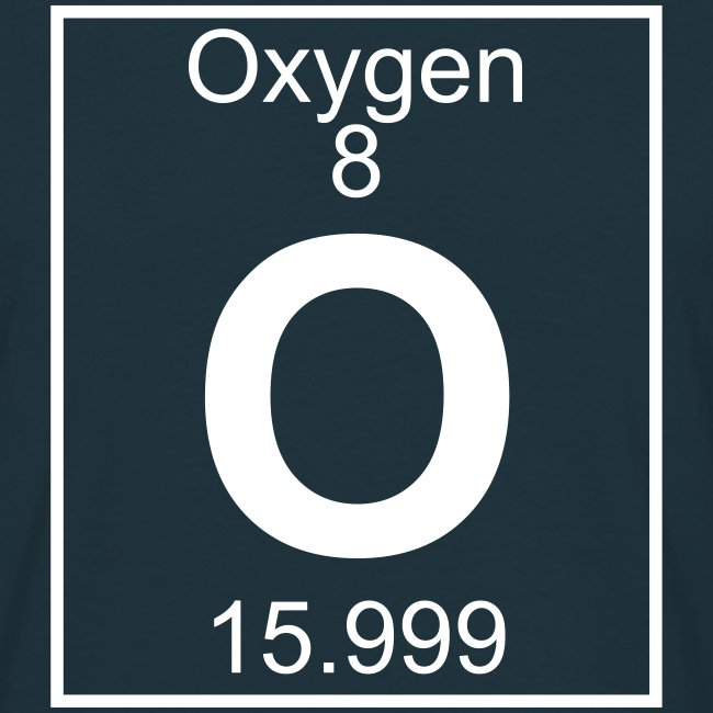Periodic table words oxygen o element 8 full 1 col shirt oxygen o element 8 full 1 col shirt urtaz Gallery