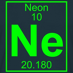 Periodic table element 10 - Ne (neon) - BIG T-shirts - T-shirt herr