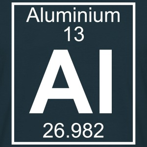 Periodic table element 13 - Al (aluminium) - BIG T-shirts - Herre-T-shirt