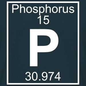 Periodic table element 15 - P (phosphorus) - BIG Magliette - Maglietta da uomo