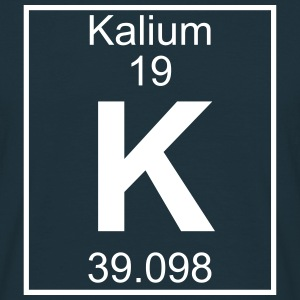 Periodic table element 19 - K (kalium) - BIG T-shirts - Herre-T-shirt