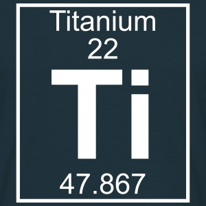 Periodic table element 22 - Ti (titanium) - BIG T-shirts - Herre-T-shirt