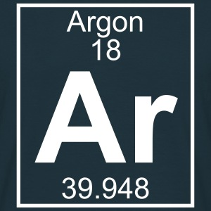 Periodic table element 18 - Ar (argon) - BIG T-shirts - Herre-T-shirt