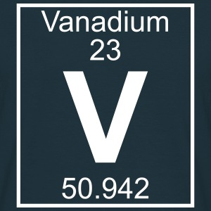 Periodic table element 23 - V (vanadium) - BIG T-shirts - Herre-T-shirt