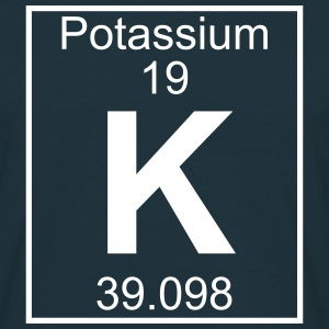 Periodic table element 19 - K (potassium) - BIG T-shirts - Herre-T-shirt