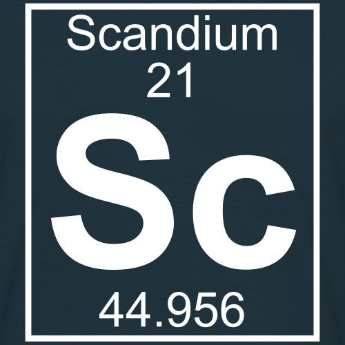 Scandium (Sc) (element 21)