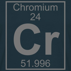 Periodic table element 24 - Cr (chromium) - BIG Koszulki - Koszulka męska