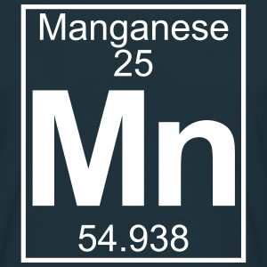 Periodic table element 25 - Mn (manganese) - BIG T-shirts - Herre-T-shirt