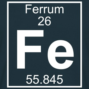 Periodic table element 26 - Fe (ferrum) - BIG T-shirts - Herre-T-shirt