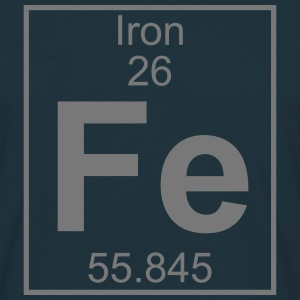 Periodic table element 26 - Fe (iron) - BIG T-shirts - Herre-T-shirt