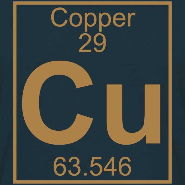 Periodic Table Words Copper Cu Element 29 Full 1 Col Shirt