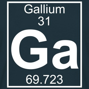 Periodic table element 31 - Ga (gallium) - BIG T-shirts - Mannen T-shirt