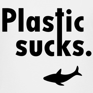 Plastic sucks ** Shark conservation Vegetarian Shirts - Teenage Premium T-Shirt