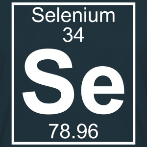 Periodic table element 34 - Se (selenium) - BIG Koszulki - Koszulka męska