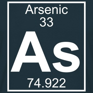 Periodic table element 33 - As (arsenic) - BIG T-shirts - Herre-T-shirt