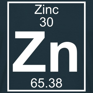 Periodic table element 30 - Zn (zinc) - BIG Koszulki - Koszulka męska