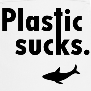 Plastic sucks ** Shark conservation Vegetarian  Aprons - Cooking Apron