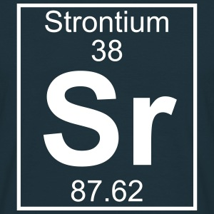 Periodic table element 38 - Sr (strontium) - BIG Koszulki - Koszulka męska