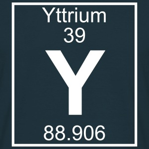 Periodic table element 39 - Y (yttrium) - BIG Koszulki - Koszulka męska