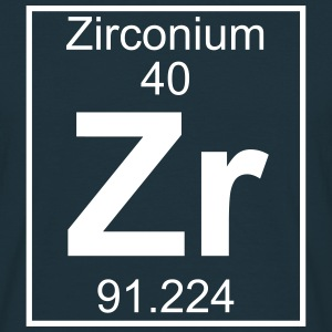 Periodic table element 40 - Zr (zirconium) - BIG T-shirts - Herre-T-shirt