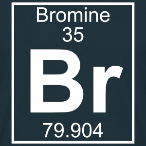 Periodic table element 35 - Br (bromine) - BIG Koszulki - Koszulka męska