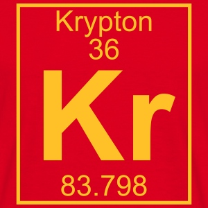 Periodic table element 36 - Kr (krypton) - BIG T-shirts - Herre-T-shirt