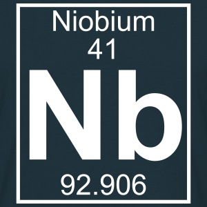 Periodic table element 41 - Nb (niobium) - BIG Koszulki - Koszulka męska