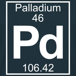 Periodic table element 46 - Pd (palladium) - BIG T-shirts - Herre-T-shirt