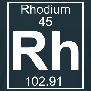 Periodic table element 45 - Rh (rhodium) - BIG T-shirts - Herre-T-shirt