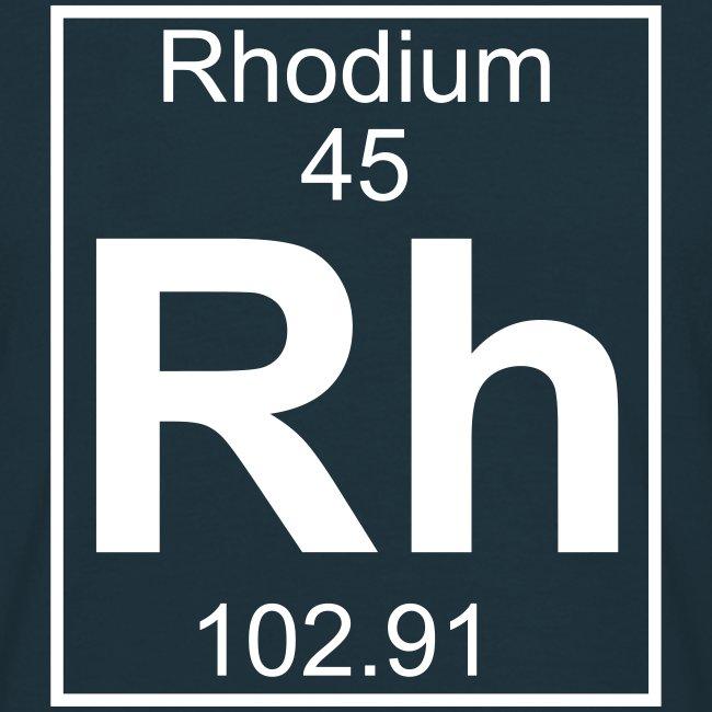 Rhodium (Rh) (element 45) - Full 1 col Shirt