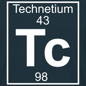 Periodic table element 43 - Tc (technetium) - BIG Koszulki - Koszulka męska