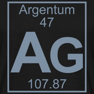 Periodic table element 47 - Ag (argentum) - BIG T-shirts - Herre-T-shirt