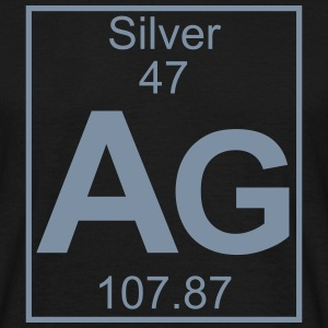 Periodic table element 47 - Ag (silver) - BIG T-shirts - T-shirt herr