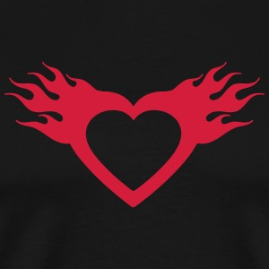 burning heart T-Shirts - Männer Premium T-Shirt