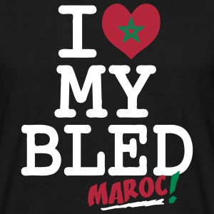 I love MY BLED Maroc T-Shirts - Men's T-Shirt