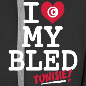 I love MY BLED Tunisie Hoodies & Sweatshirts - Men's Premium Hooded Jacket