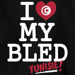 I love MY BLED Tunisie Shirts - Teenage T-shirt