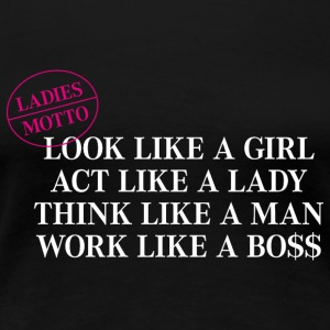 Girlieshirt Ladies Motto, think like a Boss - Frauen Premium T-Shirt