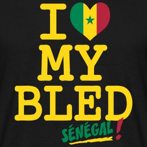 I love MY BLED Senegal_ T-Shirts - Men's T-Shirt