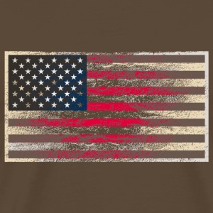 Shirt USA-Flagge Grunge Style Used Look - Männer Premium T-Shirt
