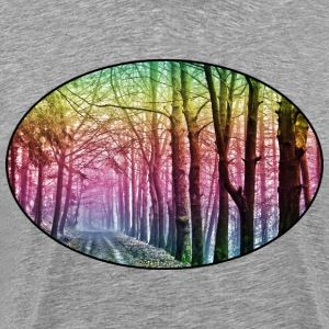 Nature - Rainbow - Forest - Park - Rural - Trees T-Shirts - Men's Premium T-Shirt