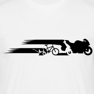 évolution de la queue de moto  Tee shirts - T-shirt Homme