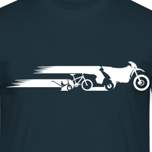 Motorcycle Enduro evolution tail  T-Shirts - Men's T-Shirt