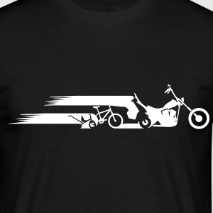 Motorcycle chopper tail evolution  T-Shirts - Men's T-Shirt
