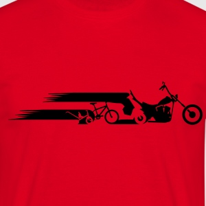 Motorcykel chopper hale evolution  T-shirts - Herre-T-shirt