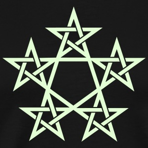 Pentagram, Glow in the dark, 5 Stars, Magic T-Shirts - Men's Premium T-Shirt